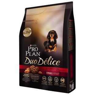Purina Pro Plan (2.5 кг) Duo Delice Small Adult сanine rich in Beef with Rice dry