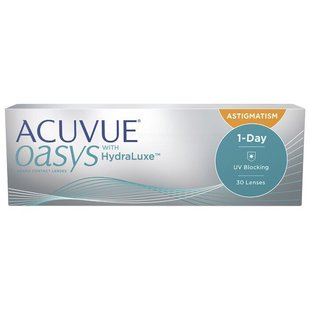 Acuvue OASYS 1-Day with HydraLuxe for Astigmatism (30 линз)