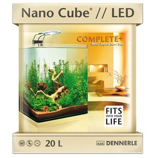 Аквариумный набор 20 л Dennerle NanoCube Complete+ Nano Power LED 20